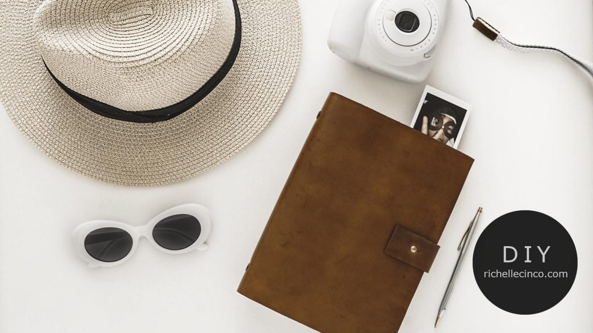 Easy DIY Refillable Leather Planner