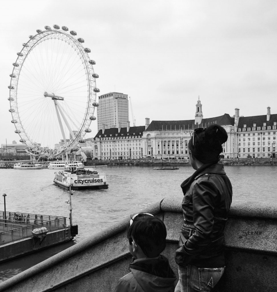 View of London Eye.  A trip that resulted from creativity.