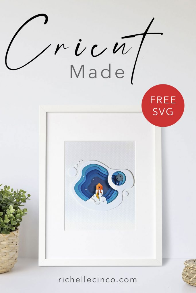Image of spaceship wall art in a white frame