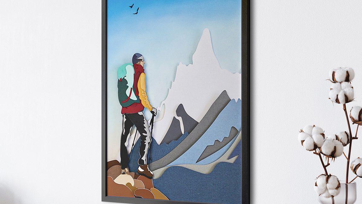 Make This Cool Hiker Cricut Paper Art