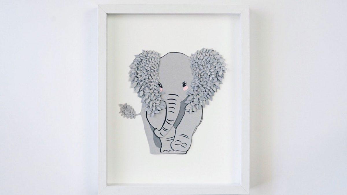 DIY Elephant Nursery Wall Decor